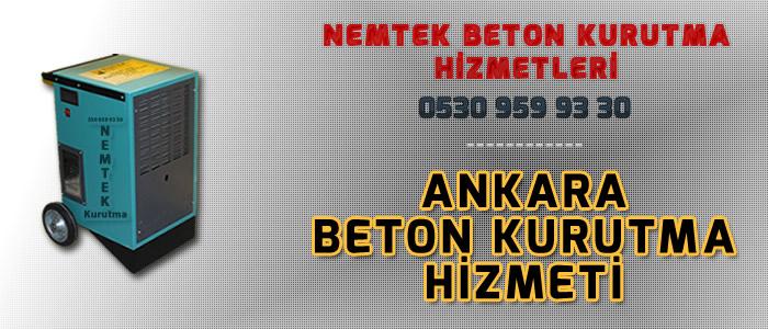 Ankara Beton Kurutma Hizmeti