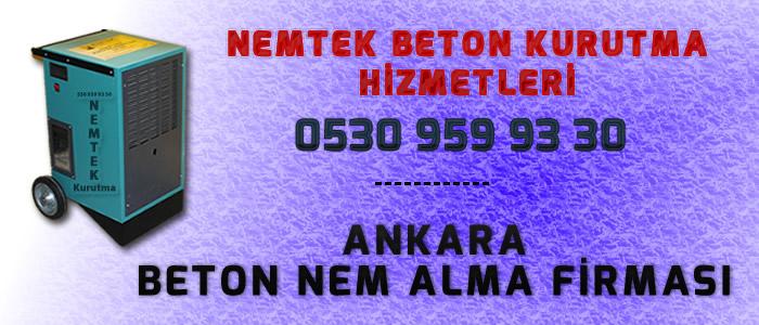 Ankara Beton Nem Alma Firması