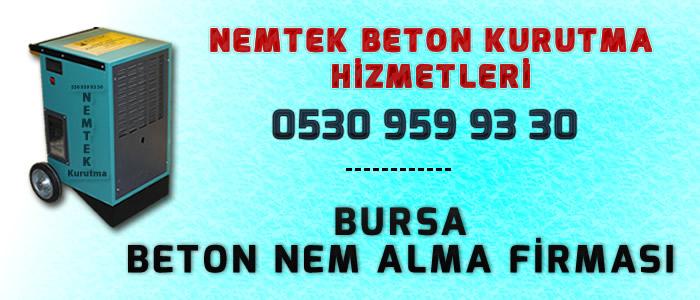 Bursa Beton Nem Alma Firması